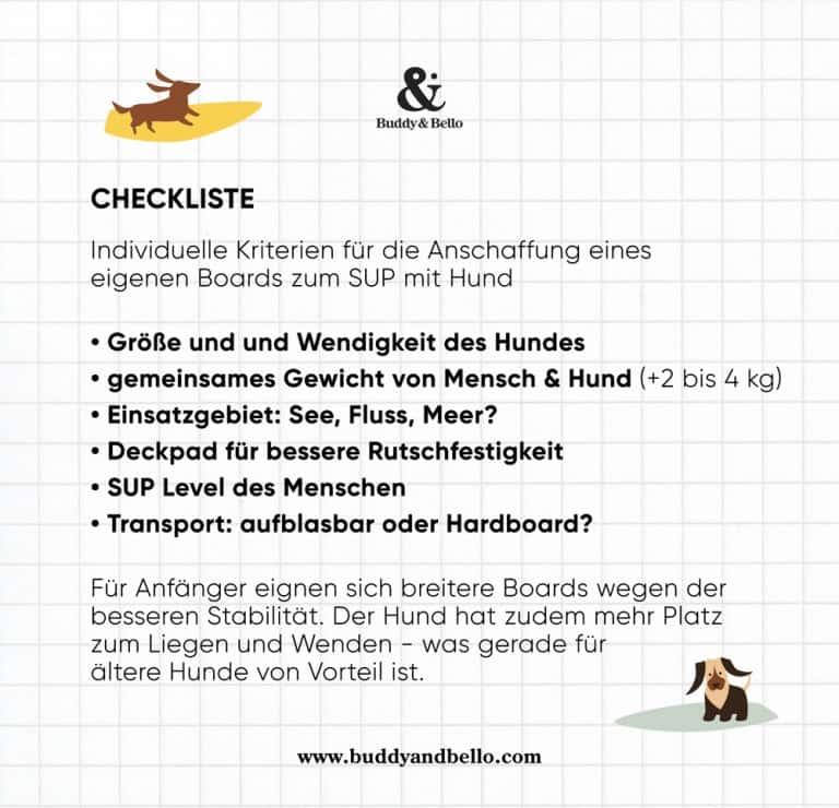 SUP mit Hund | Checkliste